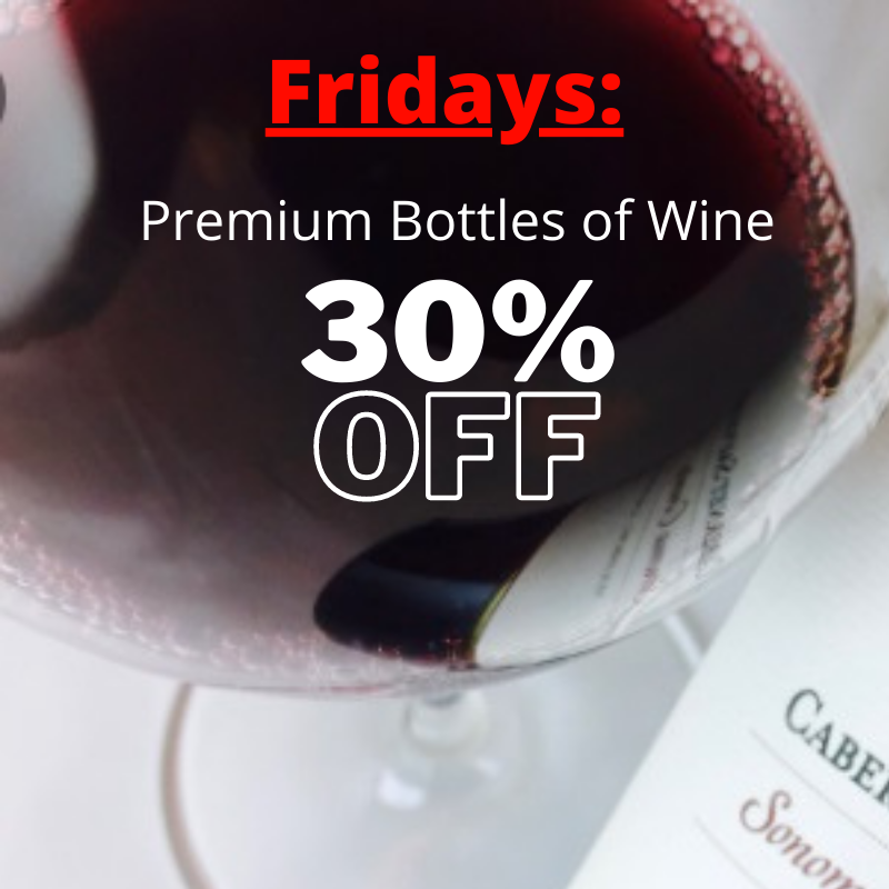 Friday special-bottles of wine