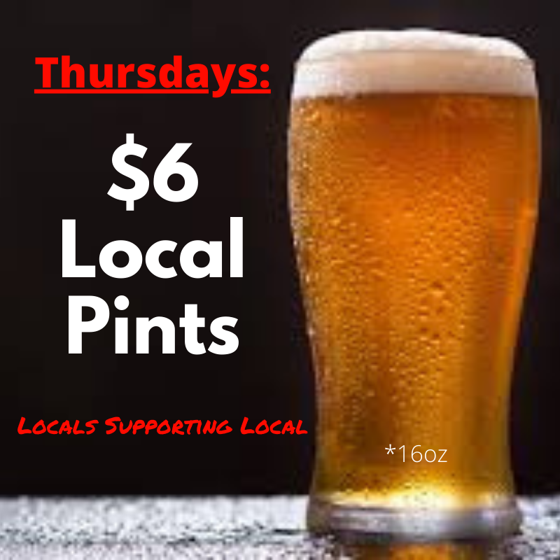 Thursday-Local Pints special